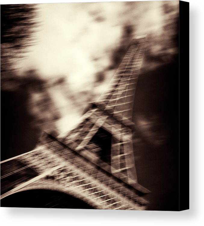 Eiffel Tower Canvas Print featuring the photograph Shades Of Paris by Dave Bowman