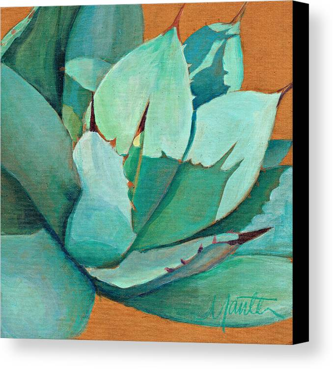 Agave Canvas Print featuring the painting Shadow Dance 3 by Athena Mantle