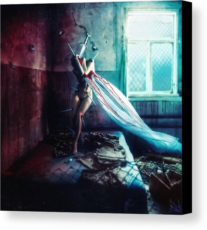 Shameful Canvas Print featuring the digital art Shame by Mario Sanchez Nevado