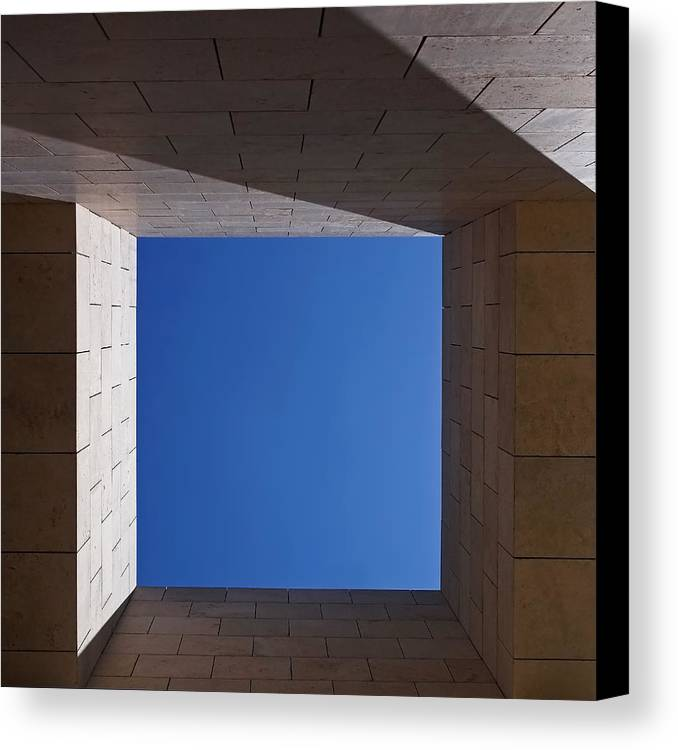 The Getty Center Canvas Print featuring the photograph Sky Box At The Getty 2 by Rona Black