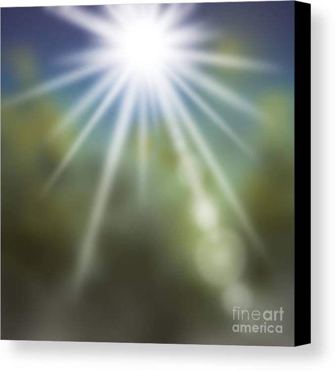 Abstract Canvas Print featuring the painting Startosphere by Atiketta Sangasaeng
