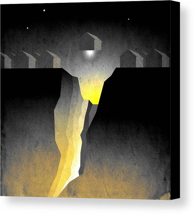 Abstract Expressionism Canvas Print featuring the digital art Suburban Fracture by Milton Thompson
