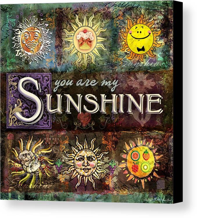 Sun Canvas Print featuring the digital art Sunshine by Evie Cook