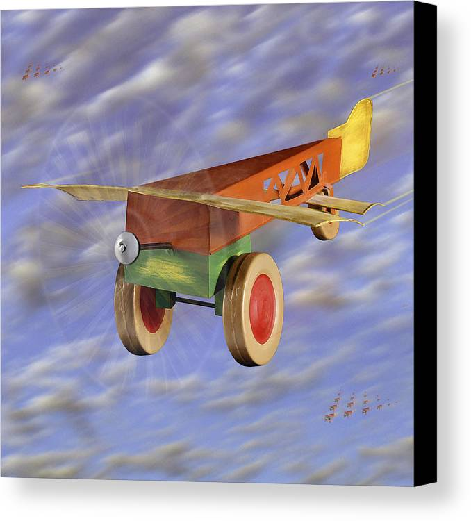 Toy Planes Canvas Print featuring the photograph The 356th Toy Plane Squadron 2 by Mike McGlothlen