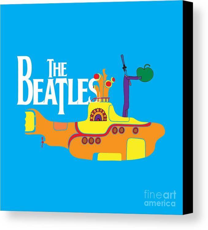 Artwork Canvas Print featuring the digital art The Beatles No.11 by Caio Caldas