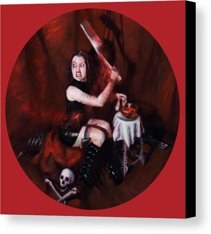 Shelley Irish Canvas Print featuring the painting The Fearful by Shelley Irish