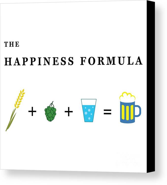 Definition Canvas Print Featuring The Digital Art The Happiness Formula By  Stockimage Folio