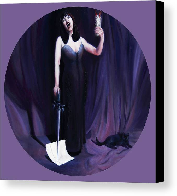 Shelley Irish Canvas Print featuring the painting The Heretic by Shelley Irish