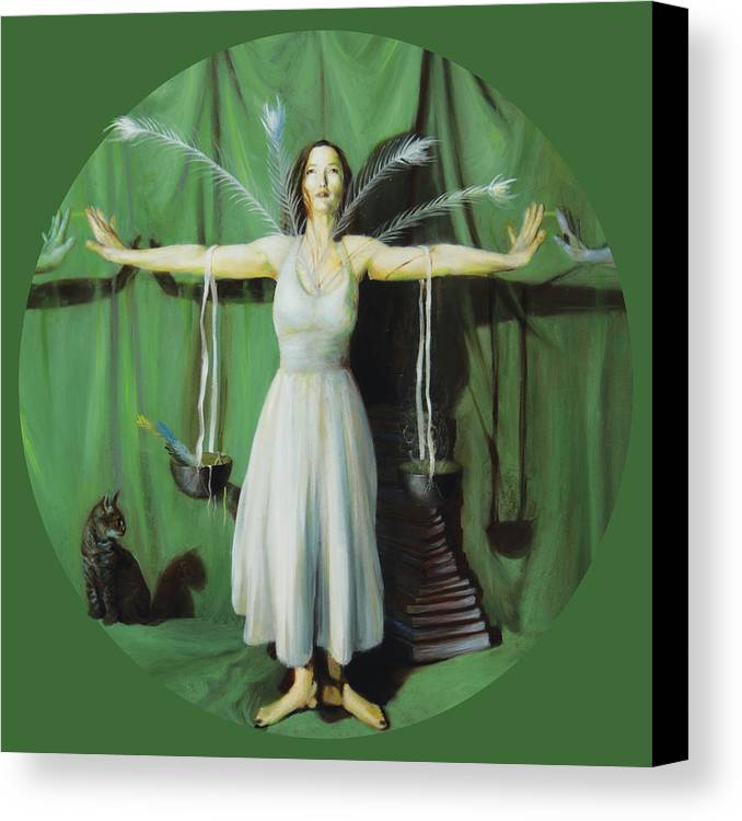 Shelley Irish Canvas Print featuring the painting The Leaver by Shelley Irish