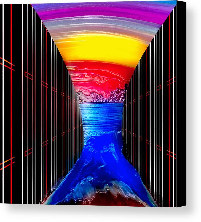 Canvas Print featuring the digital art The Levy by Coal