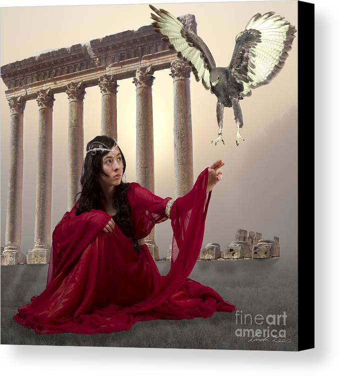 Fantasy Canvas Print featuring the digital art The Message Bearer by Linda Lees