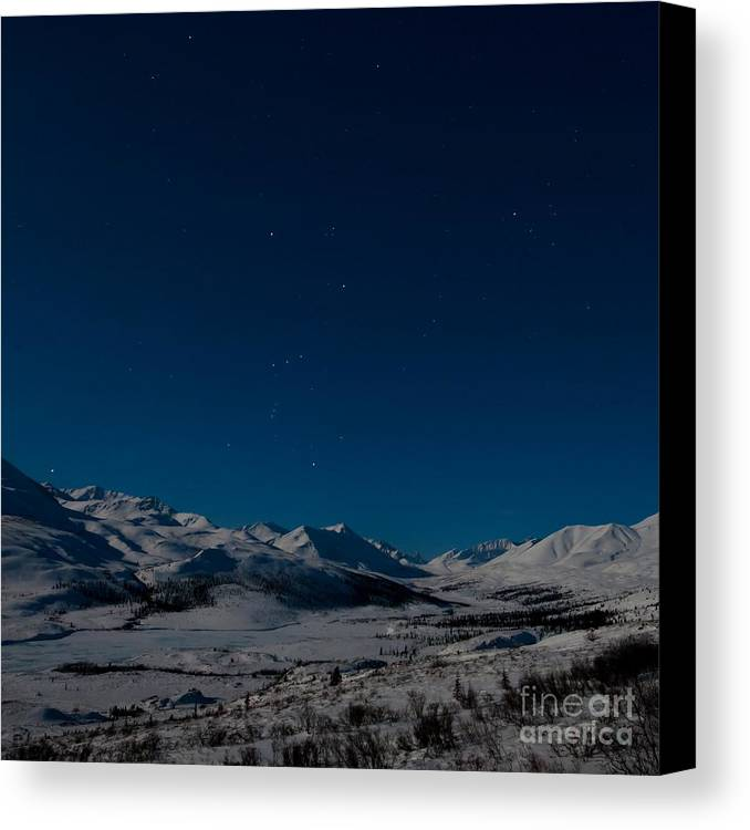 Dempster Highway Canvas Print featuring the photograph The Presence Of Absolute Silence by Priska Wettstein
