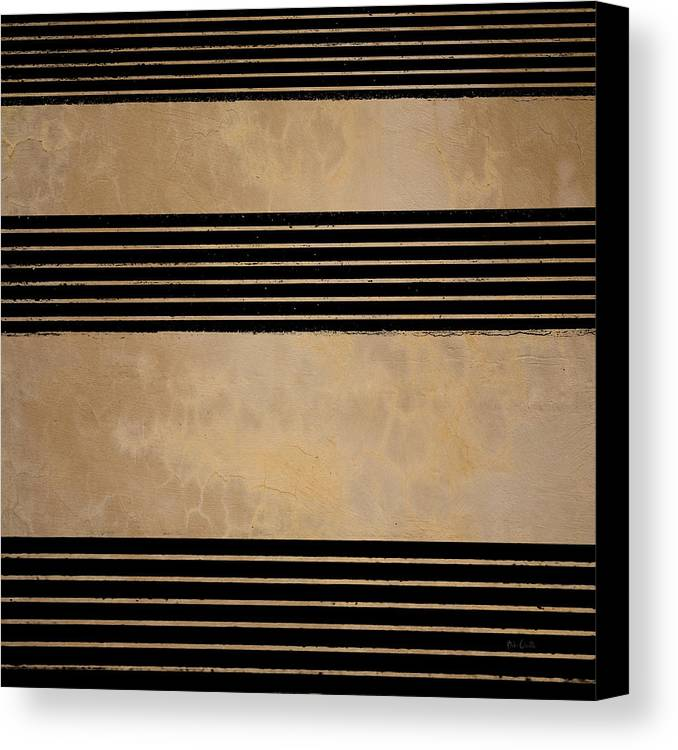 Abstract Canvas Print featuring the photograph Three Steps by Bob Orsillo