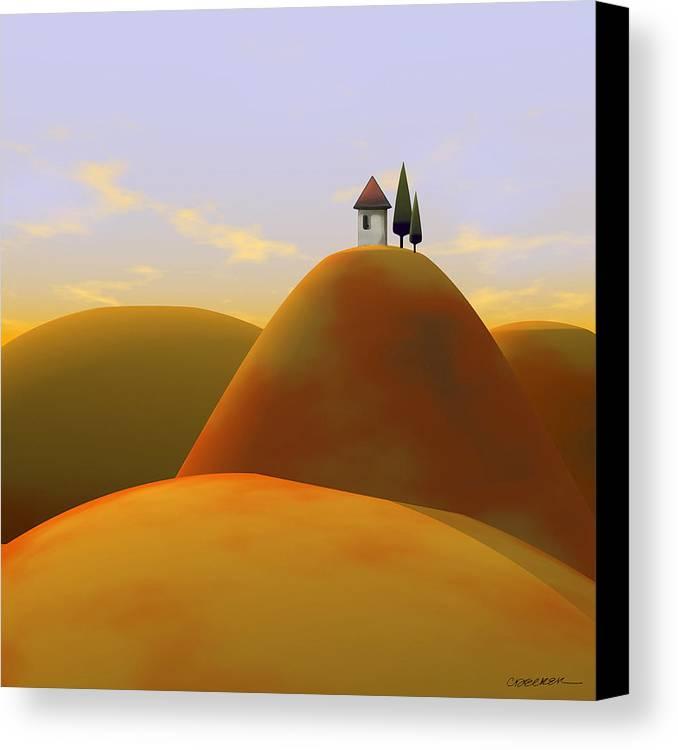 Hills Canvas Print featuring the digital art Toscana 2 by Cynthia Decker