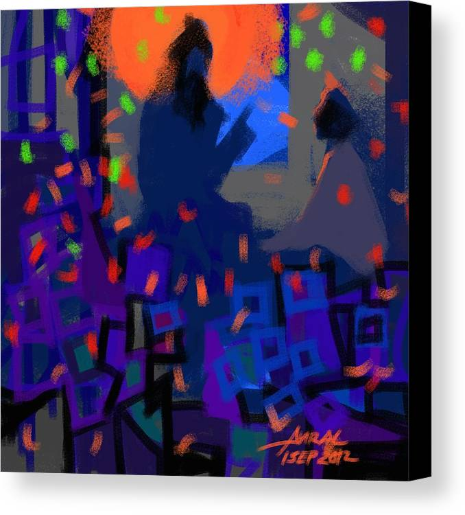 Wisdom Canvas Print featuring the painting Transmission by Aviral Jha