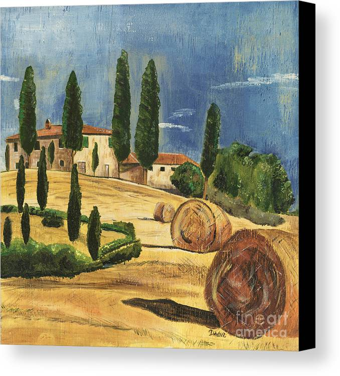 Tuscany Canvas Print featuring the painting Tuscan Dream 2 by Debbie DeWitt