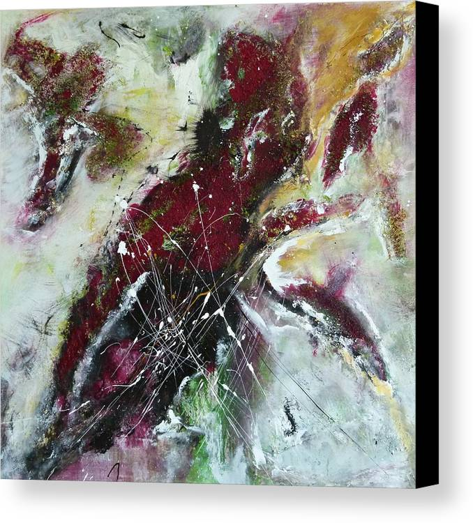 Painting Canvas Print featuring the painting Universe- Abstract Art by Ismeta Gruenwald