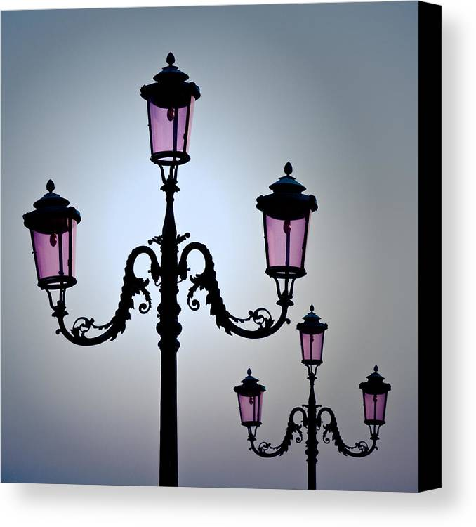 Venice Canvas Print featuring the photograph Venetian Lamps by Dave Bowman