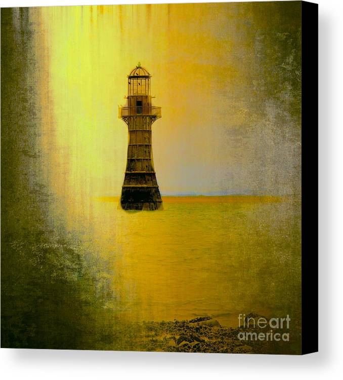 Vintage Whiteford Lighthouse Canvas Print featuring the photograph Vintage Whiteford Lighthouse by Eben Photoart
