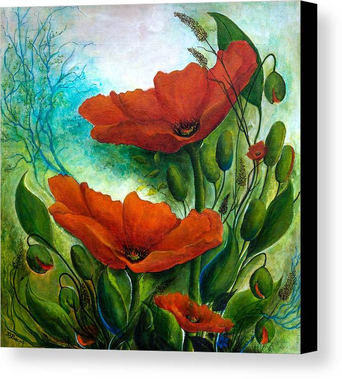 Floral Canvas Print featuring the painting What A Beautiful Morning by Dawn Broom