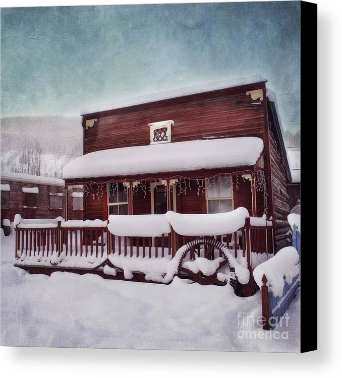 House Canvas Print featuring the photograph Winter Sleep by Priska Wettstein