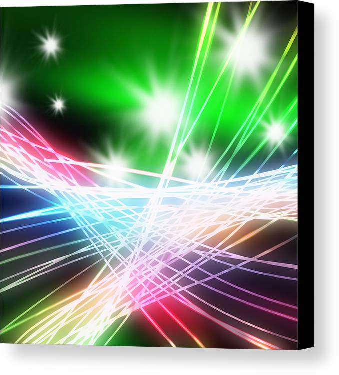 Abstract Canvas Print featuring the photograph Abstract Of Stage Concert Lighting by Setsiri Silapasuwanchai