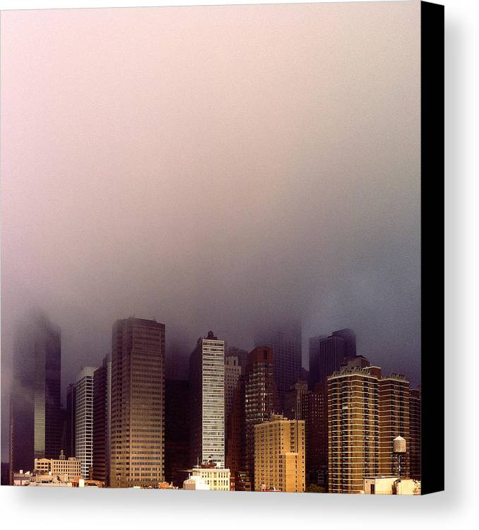 Architecture Canvas Print featuring the photograph Manhattan by Eli Maier