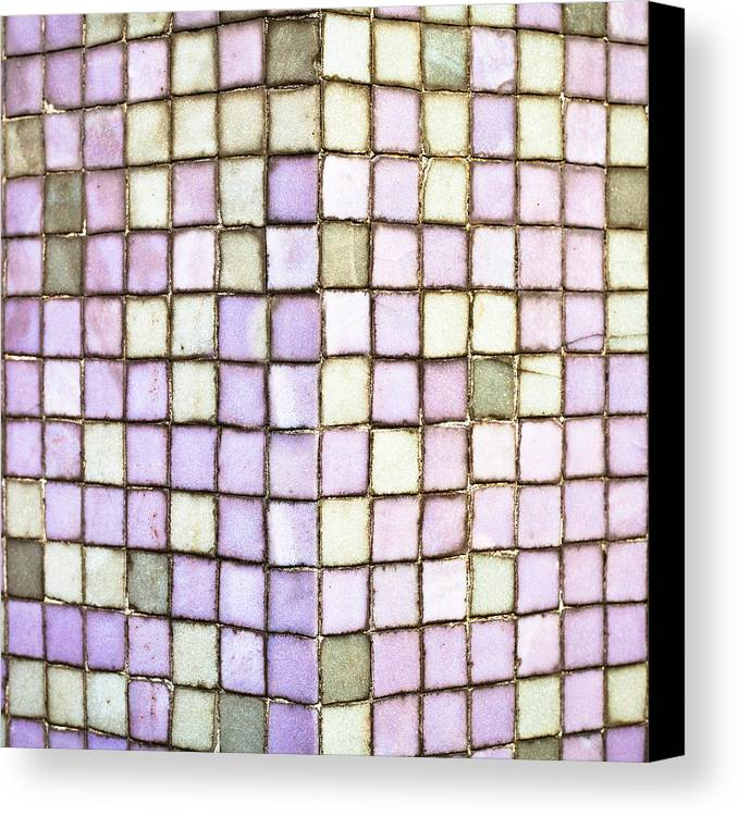 Apartment Canvas Print featuring the photograph Purple Tiles by Tom Gowanlock