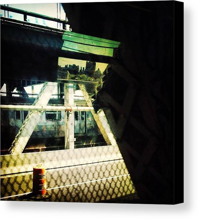 Bridge Canvas Print featuring the photograph Reflection On The Q by Natasha Marco
