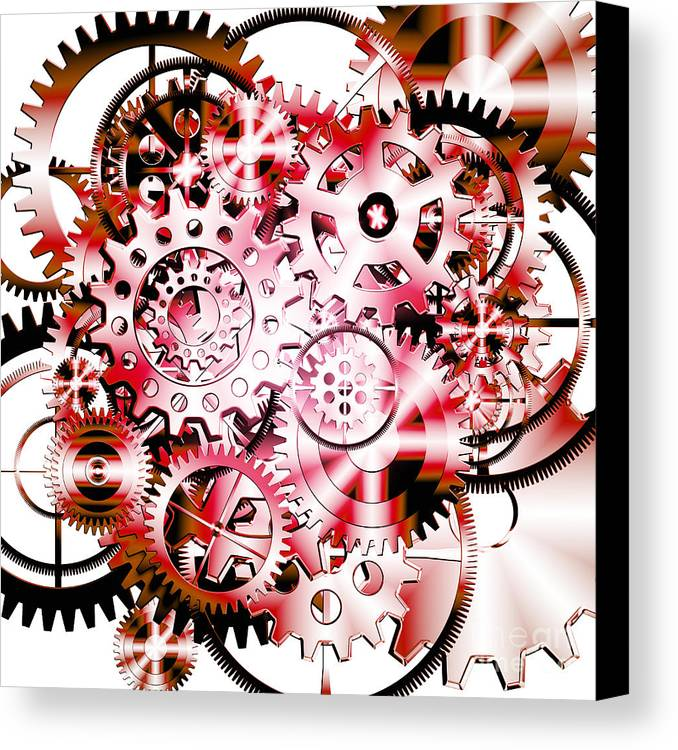 Art Canvas Print featuring the photograph Gears Wheels Design by Setsiri Silapasuwanchai