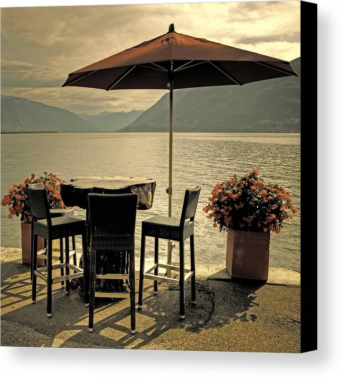 Brissago Canvas Print featuring the photograph Table And Chairs by Joana Kruse