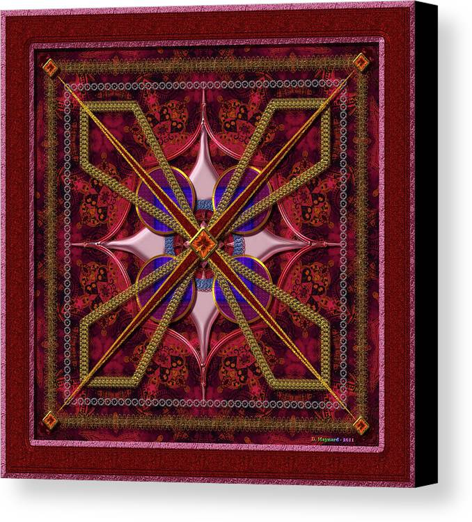 Red Canvas Print featuring the photograph 20110730-squares-of-strokes-v6a by Danny Maynard