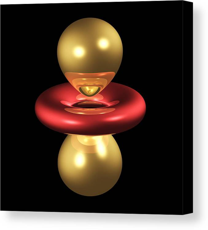 3dz2 Canvas Print featuring the photograph 3dz2 Electron Orbital by Dr Mark J. Winter