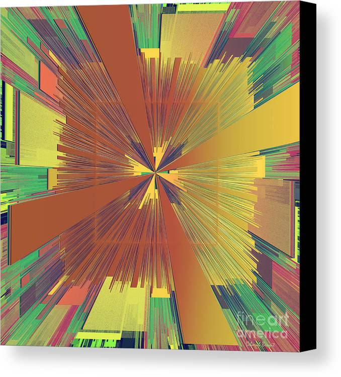 Abstract Canvas Print featuring the digital art Abstract 4 by Deborah Benoit