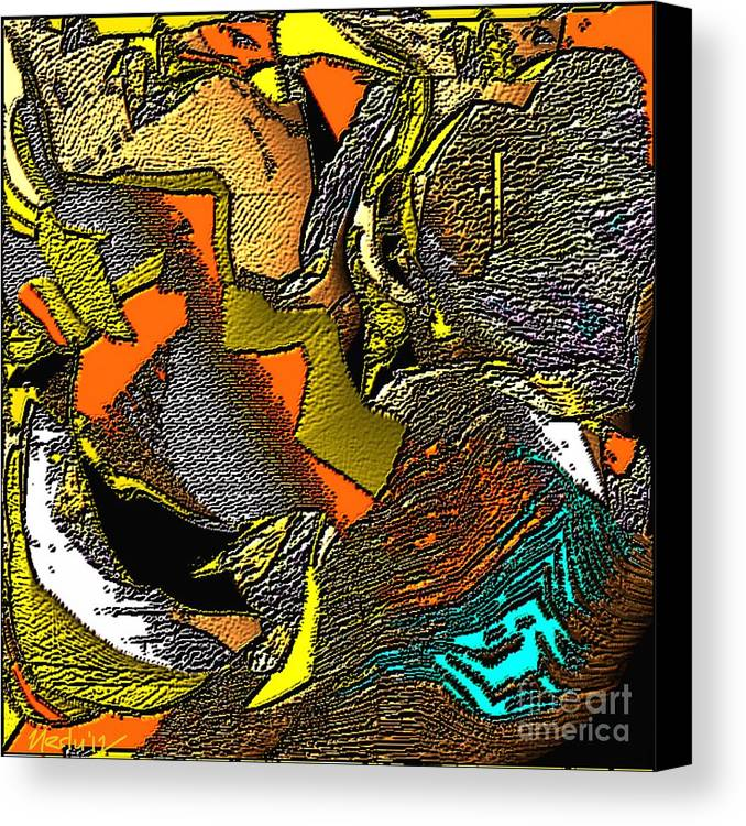 Paintings Canvas Print featuring the painting Abstract 731 by Nedunseralathan R