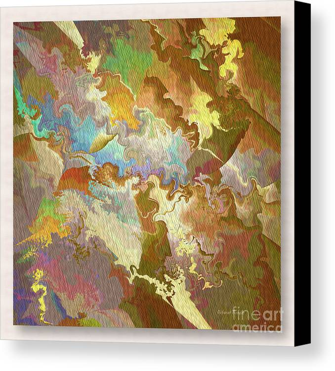 Abstract Canvas Print featuring the photograph Abstract Puzzle by Deborah Benoit
