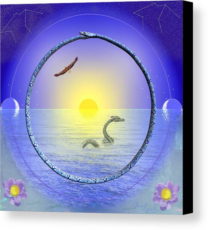 Nature Canvas Print featuring the digital art Amethyst Mandala by Christopher Lynch