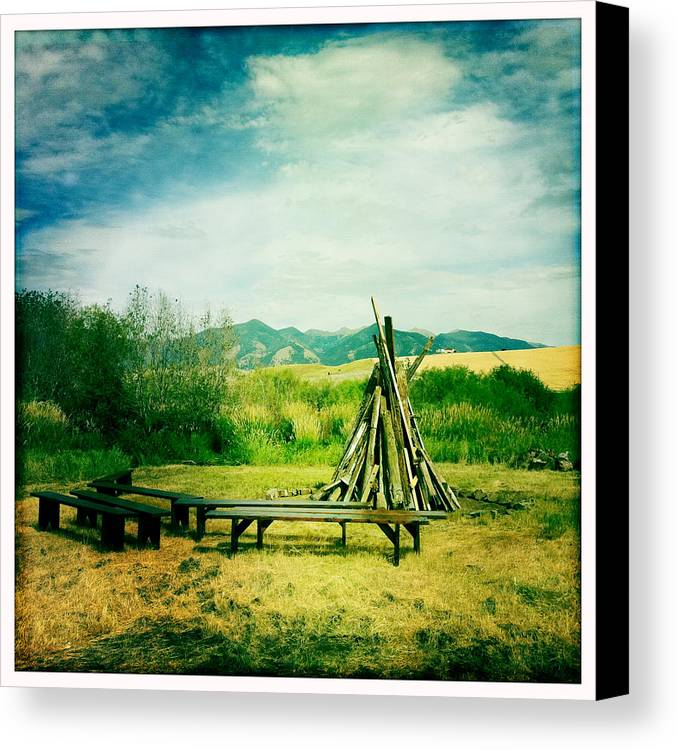 Landscape Canvas Print featuring the photograph Before The Bonfire by Betse Ellis