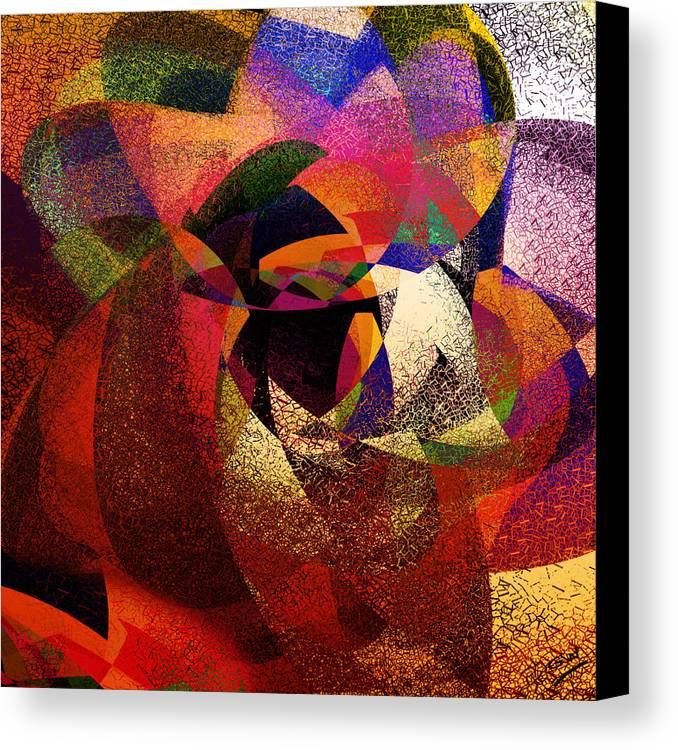 Abstract Canvas Print featuring the digital art Chalk Face by Grant Wilson