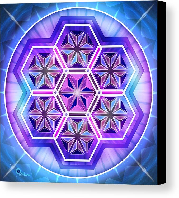 Spiritual Canvas Print featuring the digital art Crystallize by Soul Structures