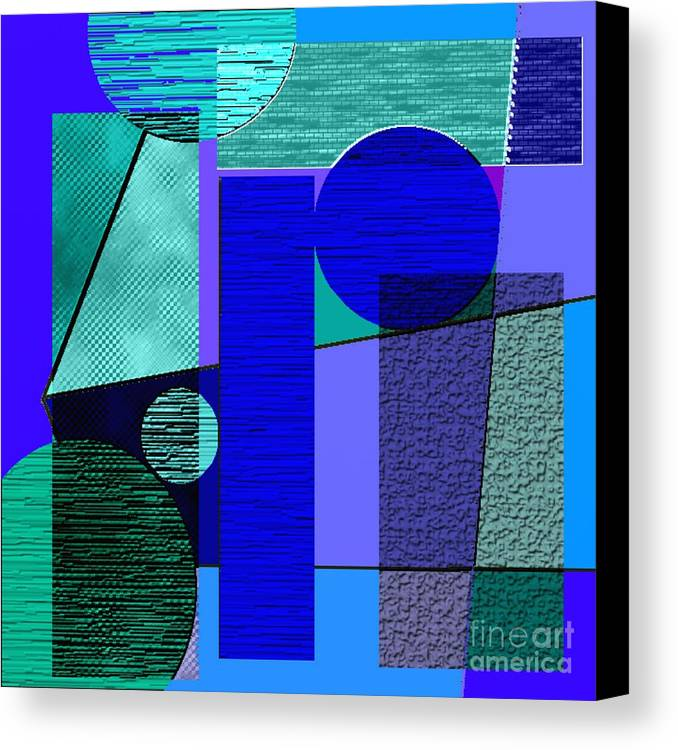 Paintings Canvas Print featuring the painting Digital Design 292 by Nedunseralathan R