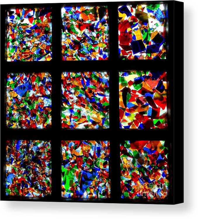 Square Canvas Print featuring the photograph Fractured Squares by Meandering Photography