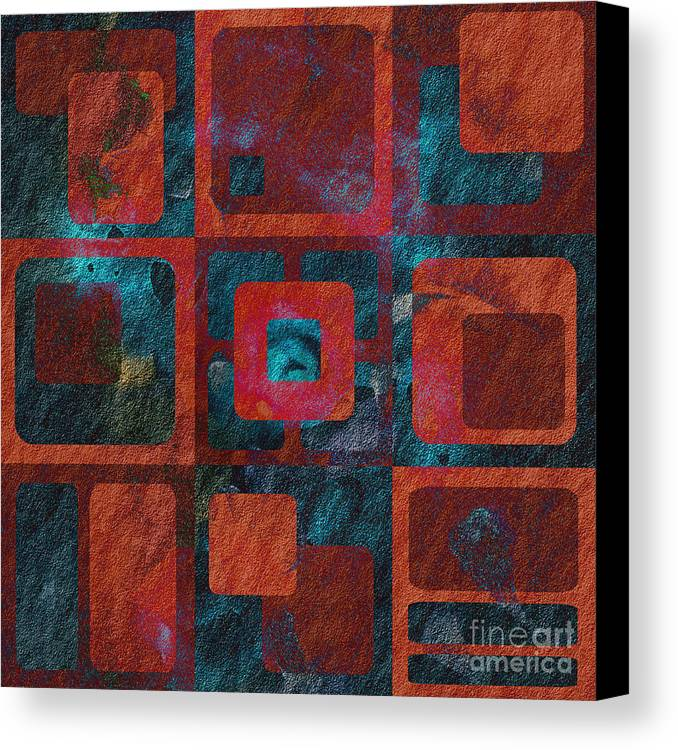 Abstract Canvas Print featuring the digital art Geomix 02 - Sp07c03b by Variance Collections