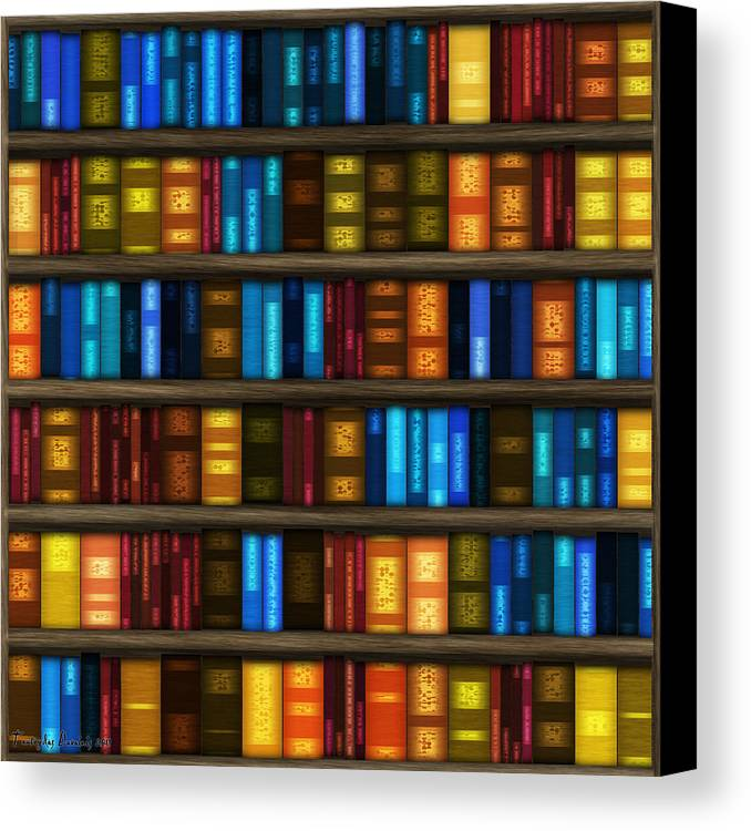 Bookseller's Canvas Print featuring the digital art Last Bookseller's Life Story. by Tautvydas Davainis