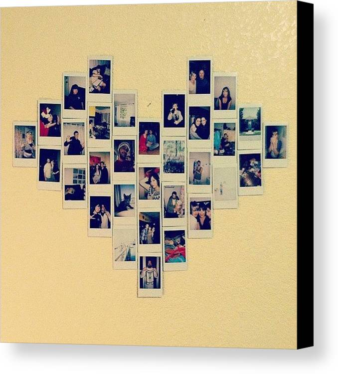 Made A Heart Collage On My Wall From My Canvas Print / Canvas Art by ...
