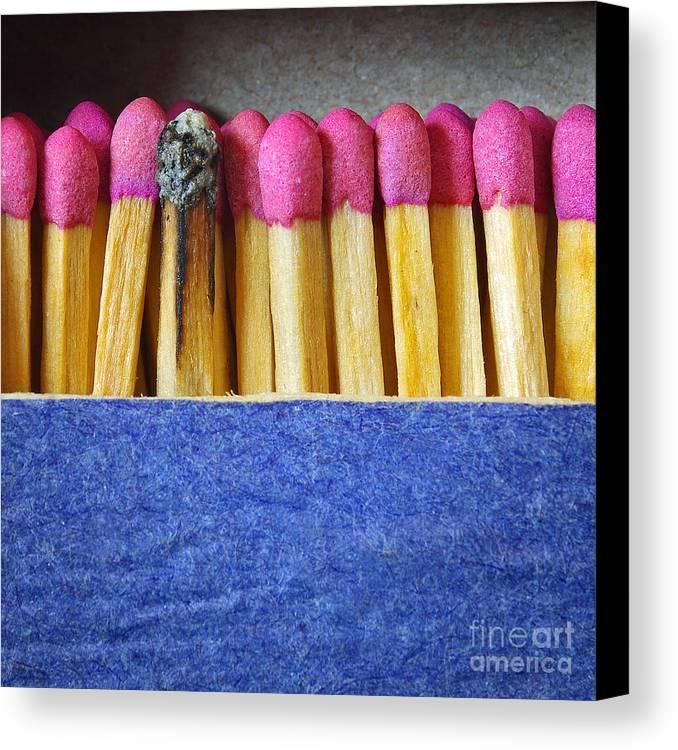 Blue Canvas Print featuring the photograph Matchbox by Carlos Caetano