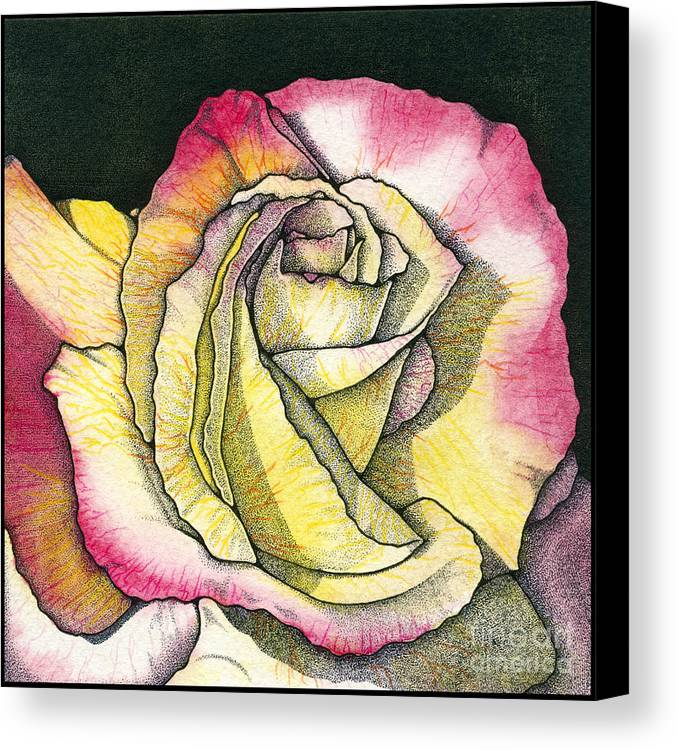 Rose Canvas Print featuring the painting Memories by Nora Blansett
