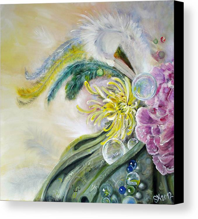 Feathers Canvas Print featuring the painting Phantasia by Stephanie Koehl