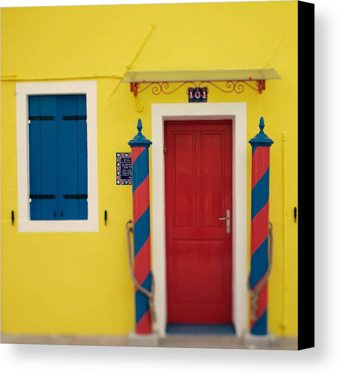Italy Canvas Print featuring the photograph Primary Colors by Irene Suchocki