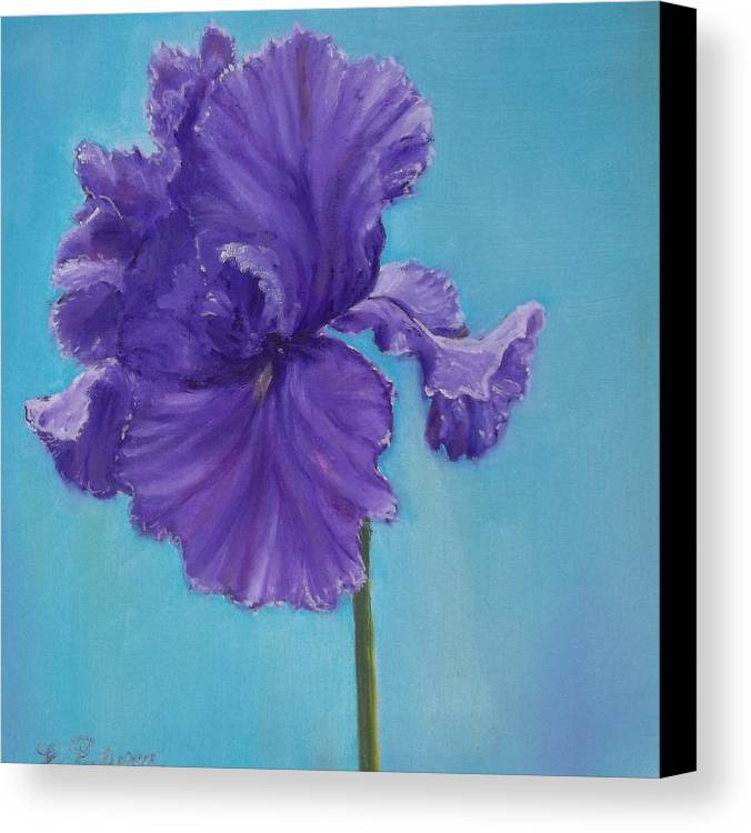 Flower Canvas Print featuring the painting Purple by Eydie Paterson